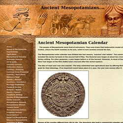 Ancient Mesopotamia calendar:heliocentric model,time keeping,day,month,year