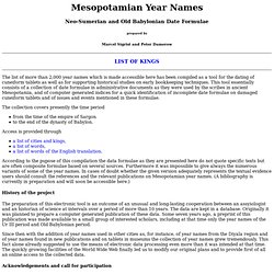 Mesopotamian Year Names