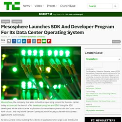 Mesosphere Launches SDK And Developer Program For Its Data Center Operating System
