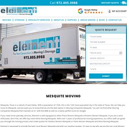 Mesquite Moving Companies, Movers and Packers, Piano Moving, Wine Storage