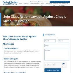 Join Class Action Lawsuit Against Chuy's Mesquite Broiler