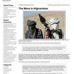 The Mess in Afghanistan « BernardFinel.com