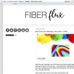 Mess Free Yarn Paintings, Yarn Craft + Video
