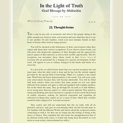 The Grail Message by Abdrushin: Thought forms