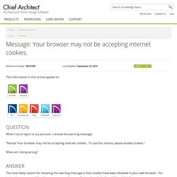 Message: Your browser may not be accepting internet cookies.
