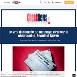 Le vrai du faux de ce message viral sur la chloroquine, Raoult et Buzyn