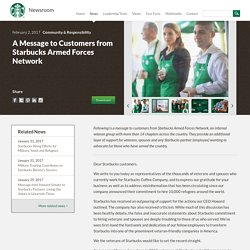 A Message to Customers from Starbucks Armed Forces Network