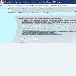 DGS 28/04/15 Cas de trichinellose liés à la consommation de figatelles crues