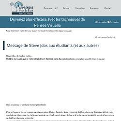 Message de Steve Jobs aux étudiants (et aux autres) − Le blog ! − Apprendre Vite et Bien