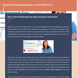 How to Get the Message from other Account in your Gmail?