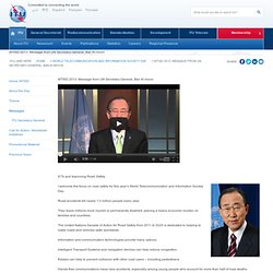 WTISD 2013: Message from UN Secretary-General, Ban Ki-moon