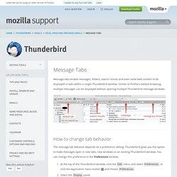 Thunderbird Help