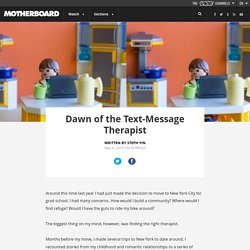 Dawn of the Text-Message Therapist