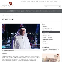 DG's Message - Abu Dhabi Tourism & Culture Authority