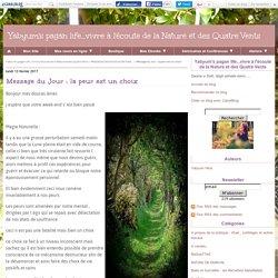 Message du Jour : la peur est un choix - Yabyum's pagan life...vivre à l'écoute de la Nature et des Quatre Vents