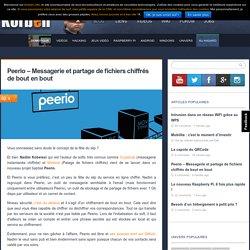 Peerio - Messagerie et partage de fichiers chiffrés de bout en bout