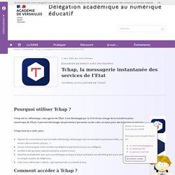 Tchap, la messagerie instantanée des services de l'Etat