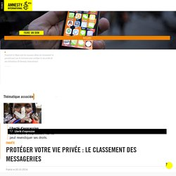 Protéger votre vie privée : le classement des messageries - Amnesty International France