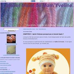 Bonnet bébé tricot : Tous les messages sur Bonnet bébé tricot - L'atelier tricot de Mam' Yveline.