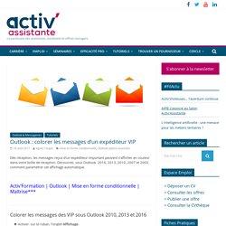 Outlook : colorer les messages d'un expéditeur VIP - Activ'Assistante