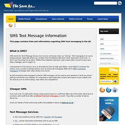 SMS Text Messages - UK Information and Advice