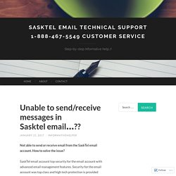 Sasktel email Technical Support 1-888-467-5549 Customer Service