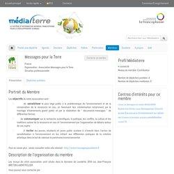 Médiaterre - la page personnelle de messagespourlaterre