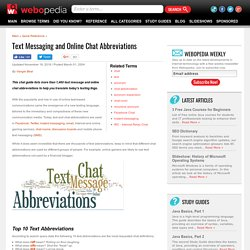 Text Messaging, Chat Abbreviations and Smiley Faces - Webopedia