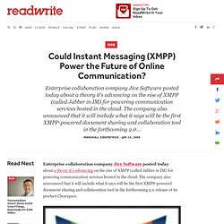 Could Instant Messaging (XMPP) Power the Future of Online Communication?