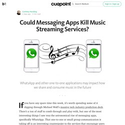 Could Messaging Apps Kill Music Streaming Services? — Cuepoint
