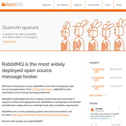 Messaging that just works — RabbitMQ