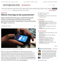 Messaging-Apps: Welche Chat-App ist die (un)sicherste?