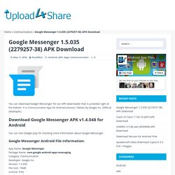 Google Messenger 1.5.035 (2279257-38) APK Download
