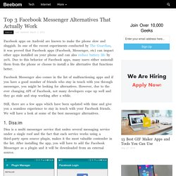 Top 3 Facebook Messenger Alternatives That Actually Work