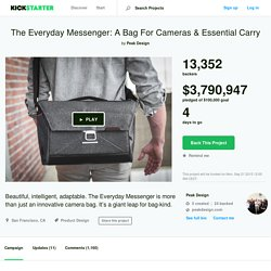 The Everyday Messenger: A Bag For Cameras & Essential Carry by Peak Design