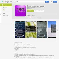 Pure messenger widget - AndroidMarket