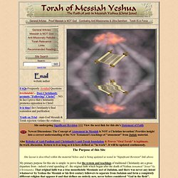 Torah of Messiah combats the trinity and anti-law teachings whil