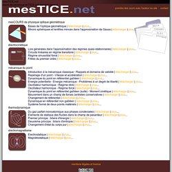 mesTICE.net - cours de physique CPGE (MPSI, PCSI, PTSI) - mesCOURS de physique
