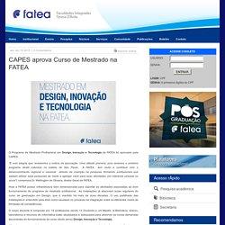 CAPES aprova Curso de Mestrado na FATEA – FATEA - Faculdades Integradas Teresa D'Ávila