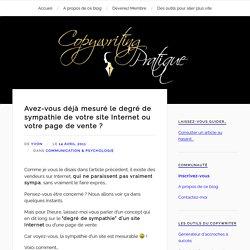 """Calcul du """"degré de sympathie"""" d'un site web : conseils"""