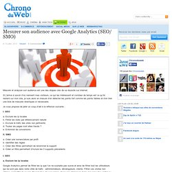 Mesurer son audience avec Google Analytics (SEO/ SMO)