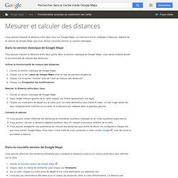 Mesurer et calculer des distances - Centre d'aide GoogleMaps