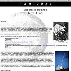 Mesurer la distance Terre - Lune.