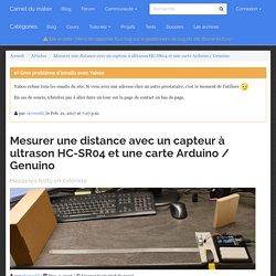 Mesurer une distance avec un capteur à ultrason HC-SR04 et une carte Arduino / Genuino