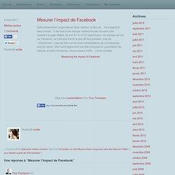 Mesurer l'impact de Facebook
