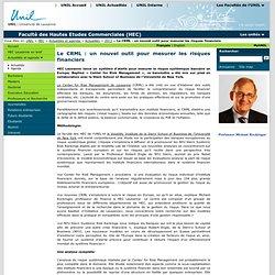 Le CRML : un nouvel outil pour mesurer les risques financiers - HEC Lausanne