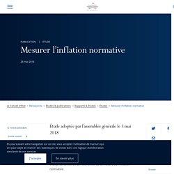 CONSEIL D'ETAT 28/05/18 Etude : Mesurer l'inflation normative