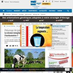 Un drone pour mesurer la pousse de l'herbe des vaches - Airinov