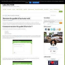 Mesurer la qualité d'un texte web
