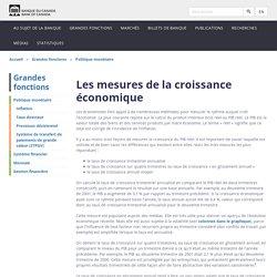 Les mesures de la croissance économique - Banque du Canada